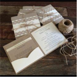 Invitación de boda vintage 17