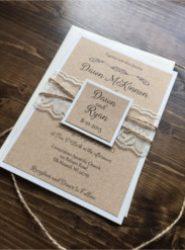 Invitación de boda vintage 18