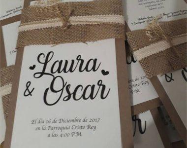 Invitación de boda vintage 19