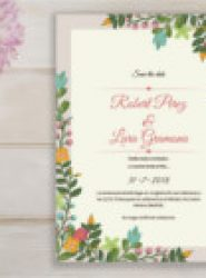 Invitación de boda vintage 2