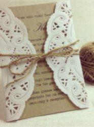 Invitación de boda vintage 20