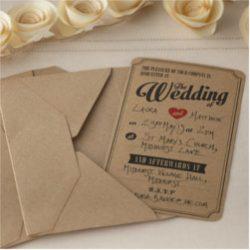 Invitación de boda vintage 22