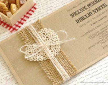 Invitación de boda vintage 23