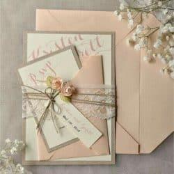 Invitación de boda vintage 27