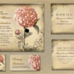 Invitación de boda vintage 28