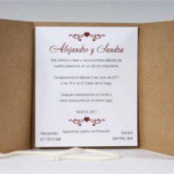 Invitación de boda vintage 29
