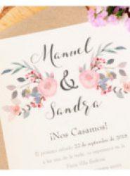 Invitación de boda vintage 3