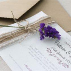 Invitación de boda vintage 30