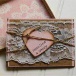 Invitación de boda vintage 31