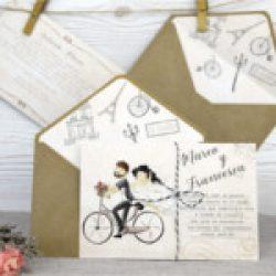 Invitación de boda vintage 4