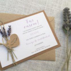Invitación de boda vintage 5