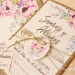 Invitación de boda vintage 6