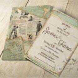 Invitación de boda vintage 7