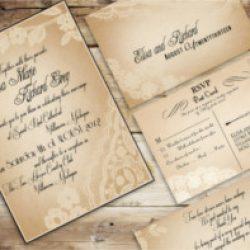 Invitación de boda vintage 8