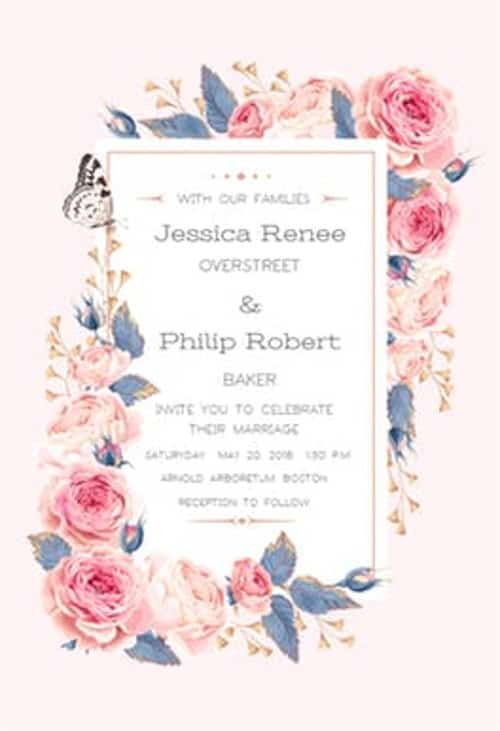 Invitación boda vintage DIY
