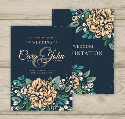 Invitación boda vintage