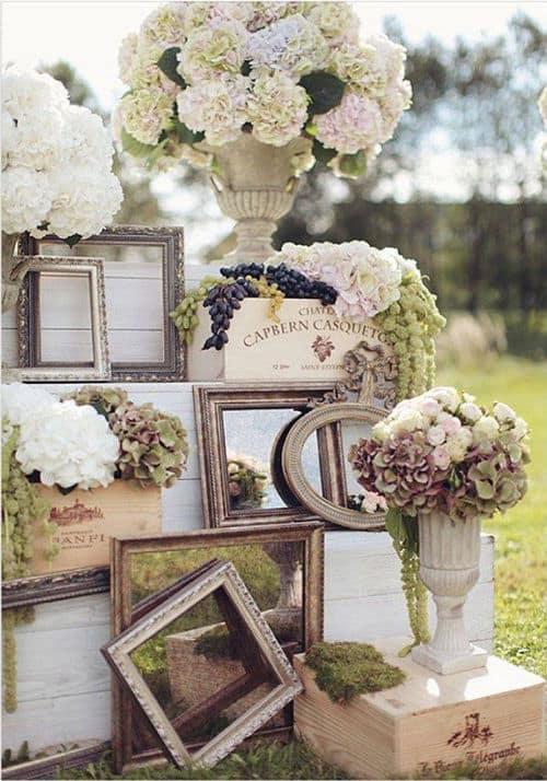 Marcos de fotos antiguos para boda vintage