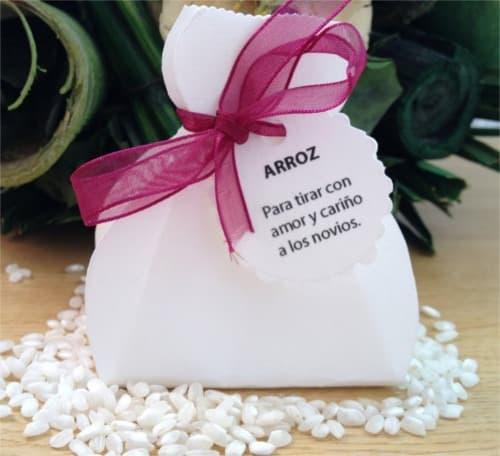 Saquito de arroz para recién casados