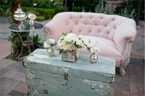 Sofá chester para boda vintage
