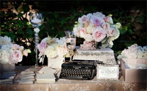Objeto especial en una boda vintage