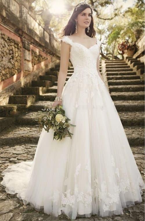 Vestido para novia vintage con tul