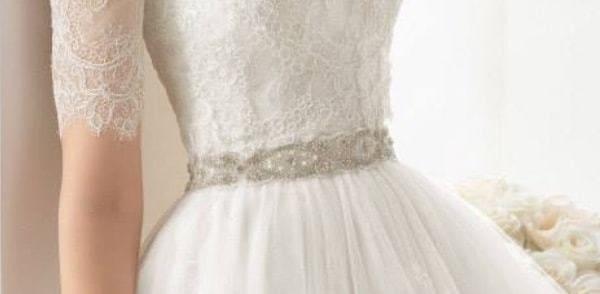 Vestidos de novia con cinturon