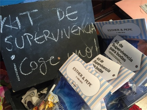 Kit de supervivencia para una boda