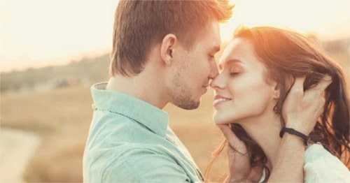 La intimidad de una pareja enamorada