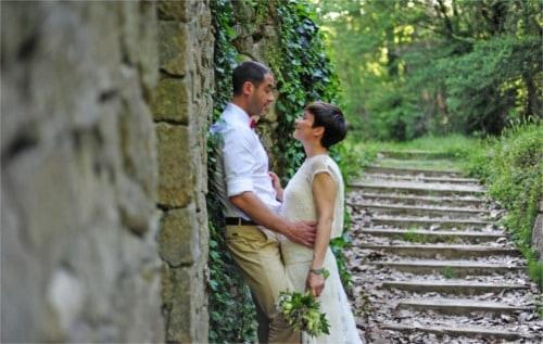 Una boda íntima en el bosque