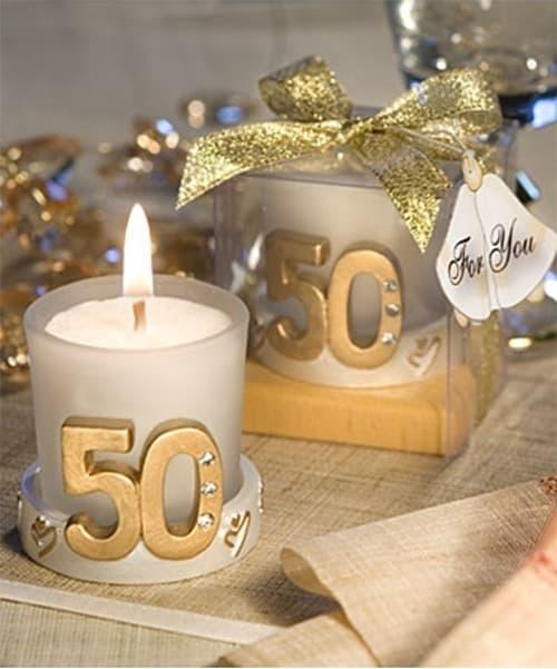 Vela de 50 aniversario de boda
