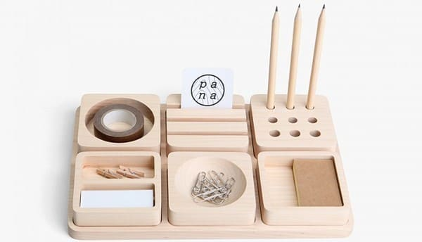 organizador escritorio madera