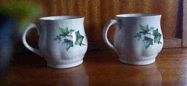 tazas con hiedra