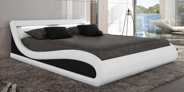 cama matrimonio curvada