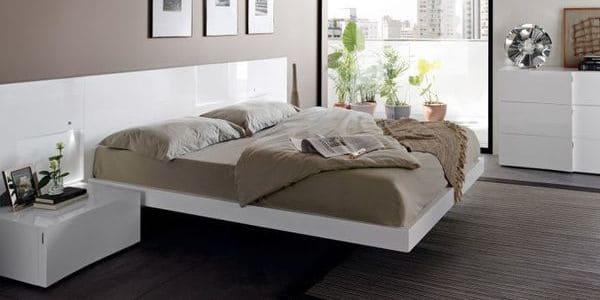 cama matrimonio flotante
