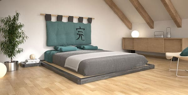 cama matrimonio tatami