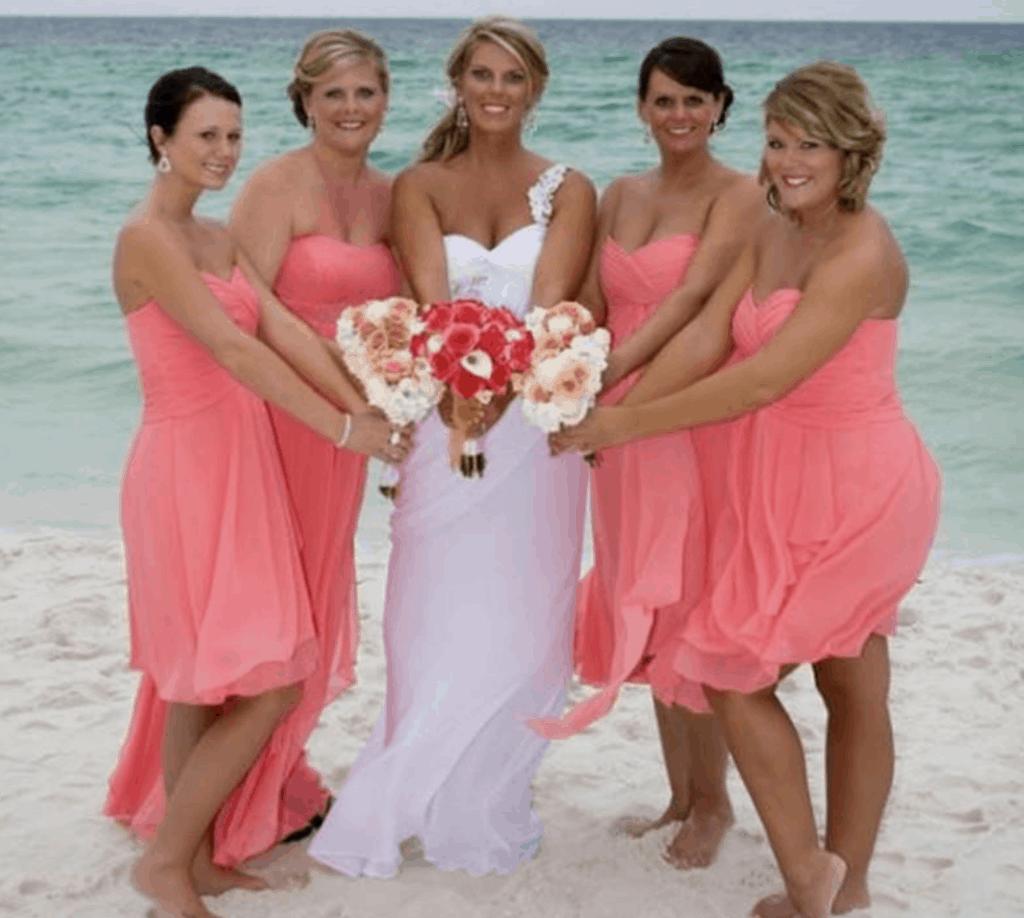 vestidos damas de honor playa
