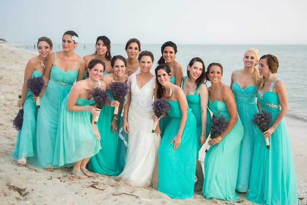 vestidos dama honor playa