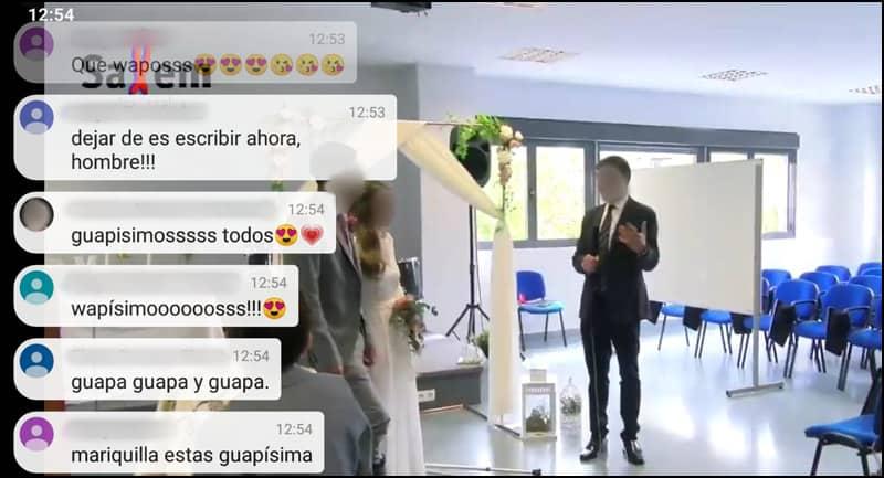 boda en streaming